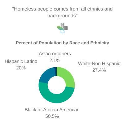 Demographic breakdown of homeless in New Jersey in 2019
